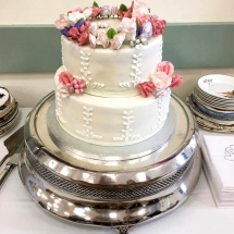 Wedding Cake Hire Norfolk - Vintage Silver Cake Stand Round - Vintage Partyware