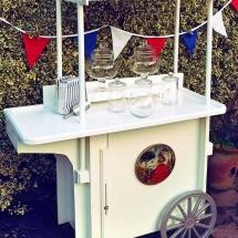 Wedding Candy Cart Hire Medium Vintage Partyware Wedding Hire Norfolk