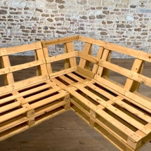 Wedding Furniture Hire Norfolk - Pallet Bench Corner Sofa Rustic Seating - Vintage Partyware