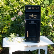 Wedding Post Box Hire Black Royal Mail George VI Vintage Partyware Wedding Decoration Hire Norfolk