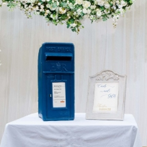 Wedding Post Box Hire Blue Royal Mail Elizabeth II Vintage Partyware Wedding Decoration Hire Norfolk