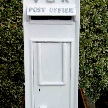 Wedding Post Box Hire White VR Victorian Royal Mail Vintage Partyware Wedding Decoration Hire Norfolk